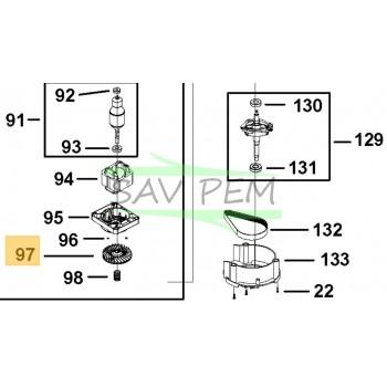Turbine moteur pour la tondeuse BLACK & DECKER LM2000-QS