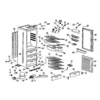 Facades de tiroir panier inferieur Pour Congelateur AIRLUX RC34