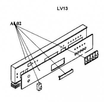 Bandeau du lave vaisselle AIRLUX LV13A