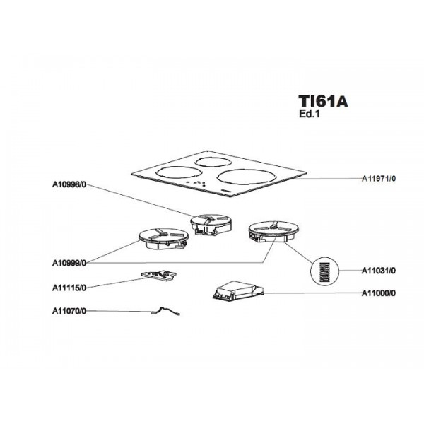 carte de puissance plaque induction airlux ta61 sav pem. Black Bedroom Furniture Sets. Home Design Ideas