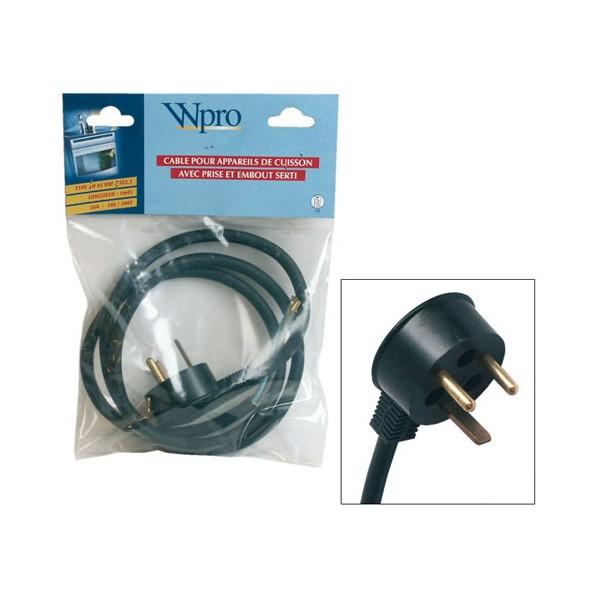 Cable alimentation appareil de cuisson 145cm sav pem for Appareil de cuisson conviviale