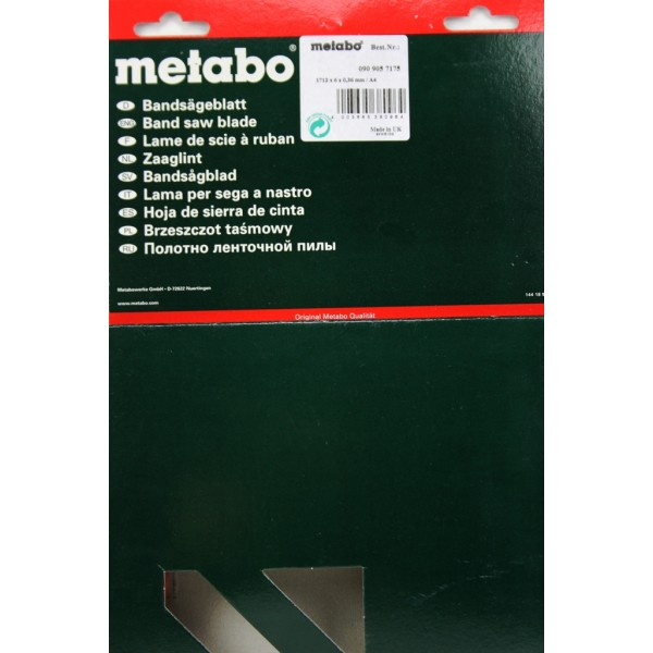 lame scie ruban metabo bas 260 swift sav pem. Black Bedroom Furniture Sets. Home Design Ideas