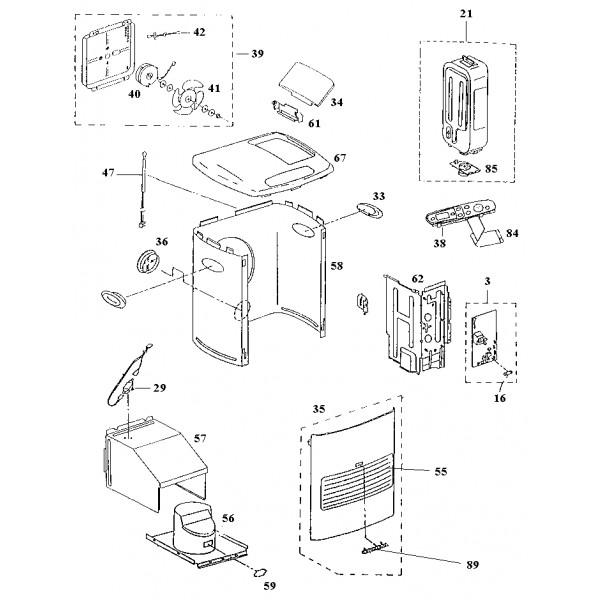 thermostat de s curite pour po le p trole inverter kero kansai. Black Bedroom Furniture Sets. Home Design Ideas