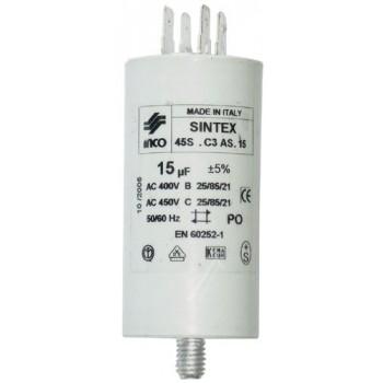 Condensateur de demarrage 15 MF/ 450 VOLT