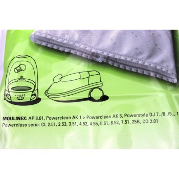 Sacs Aspirateurs MOULINEX powerclean, powerstyle,chamonix